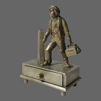 Shoeshine Boy Match Safe and Striker