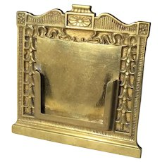 Bradley & Hubbard Brass Picture Frame
