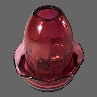 Cranberry Glass Fairy Lamp