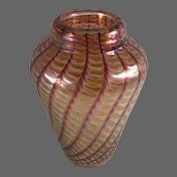 Art Glass Vase from Saks Fifth Avenue w/ Lable and Signature