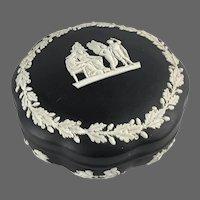 Black Wedgwood Neoclassical Trinket Box