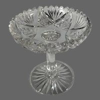 Salesman's Sample Cut-glass Compote