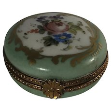 Limoges Patch Box Hand Painted