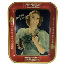 Dr. Pepper Tray ca. 1930's