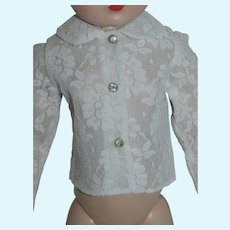 White Lace Blouse / Top for Cissy Doll