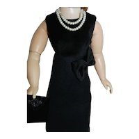 """Little Black Dress with Accessories for Vintage Cissy Jackie  Doll 20"""""""