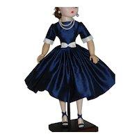 "Dress of Silk Shantung for Vintage 20"" Cissy Doll"