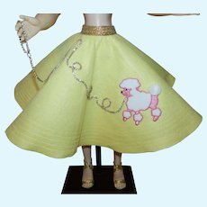 "Retro Style Circle Swing Poodle Skirt for Cissy Miss Revlon 20"" Doll"
