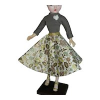 """Swing Skirt and Knit Top for Vintage 20"""" Cissy Revlon Doll"""