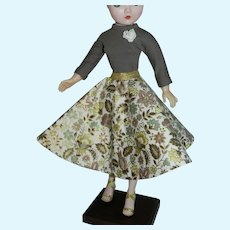"Swing Skirt and Knit Top for Vintage 20"" Cissy Revlon Doll"