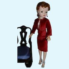 Lovely Red Velvet Dress & Jacket for Vintage Cissy Doll