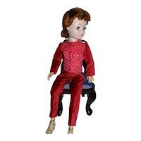 Velvet Slacks & Top / Jacket + Hoop Earrings for Vintage Alexander Cissy Doll