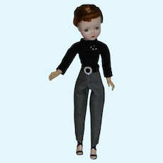 Wool Houndstooth Slacks & Knit Top for Vintage Alexander Cissy Doll