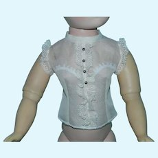Newly Made Organdy Blouse for Vintage Cissy Doll