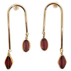 Purple Dusk Art Deco Earring
