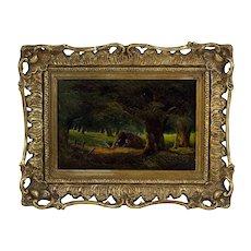 """Folks in the Woods"" By Myles Birket Foster 1825-1899"