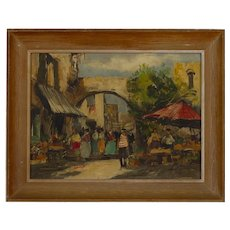 """""""Bologne Market"""" By Jean Cordet French Impressionist"""