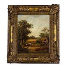 """""""Haymaking"""" By William Lara FL 1840-1860 BRITISH"""