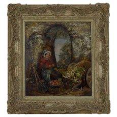 """The Stall Holder"" by Richard Peter Richards British Artist 1840-1877"