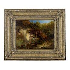 """""""A Well in Britanny"""" By James Vivien de Fleury FL 1847-1902"""