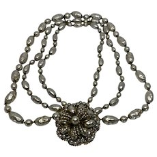 Miriam Haskell Festoon faux pearl necklace