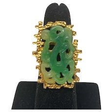 Vendome Asian inspired faux jade ring