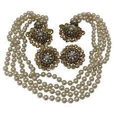 Stunning Stanley Hagler/DeMario Chatelaine Pin and earrings