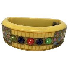 Beautiful embellished Bakelite bracelet