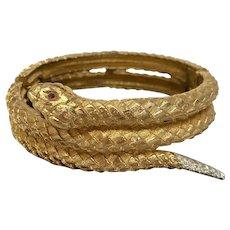 Stunning Jomaz Rattle Snake cuff bracelet