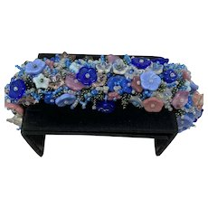 Beautiful Art Glass Floral beaded bracelet