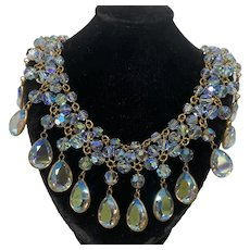 Stunning Iridescent glass beaded necklace