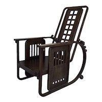 Josef Hoffmann Sitzmaschine Style Wooden Armchair