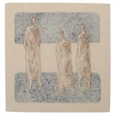 Three Standing Figures in the style of Henry Moore
