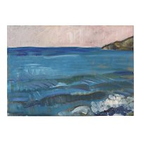 Seascape in a Post-Impressionist style
