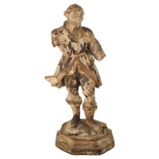 High-quality 18th century Carved Figure of a gentleman.