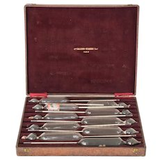 A Rare Set of 10 Antique Hydrometers by Mon. Salleron Dujardin.