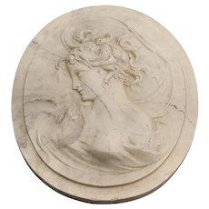 Art Nouveau Marble Wind Maiden Plaques Louis Alexandre Bottee