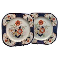 Art deco Pair plates of Enoch Ralph Grafton Woods Burslem England