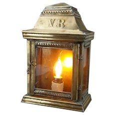 Victorian Brass Outdoor Lantern Lamp 1870-1880