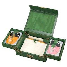 Bridge Art deco card box with Twin Deck Play Cards Sealed Thos De la Rue