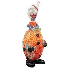 Japanese art glass clown decanter Murano style