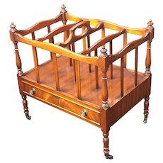 Mahogany Magazine rack stand Reprodux regency style