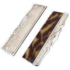 Antique Pocket silver comb c1900