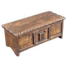 Tallent Hand made Woodcraft Oak Coffer Music Box Mid Century