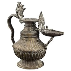 Antique Nepalese Sukunda Oil Lamp 19th Century