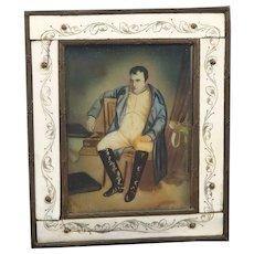 19th Century Miniature Portrait Painting Napoleon Bonaparte