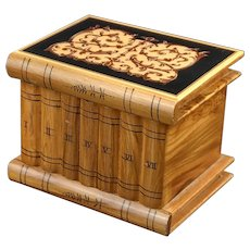Italian Marquetry Wood Sorrento Puzzle Box Stack of Books