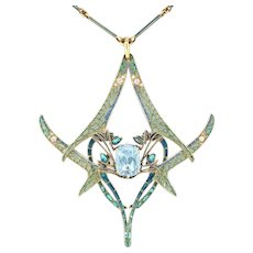 An Important Rene Lalique Dragonfly Pendant