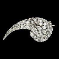 A Victorian Diamond-set Feather Brooch