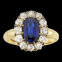 A Victorian Sapphire And Diamond Cluster Ring